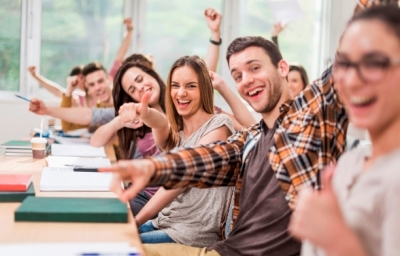 Happy students image