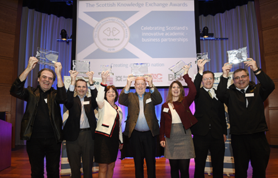 The Scottish Knowledge Exchange Awards winners 2018 group photo