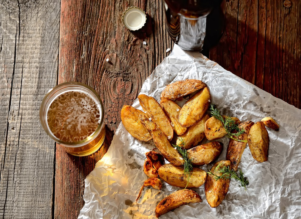Beer and wedges