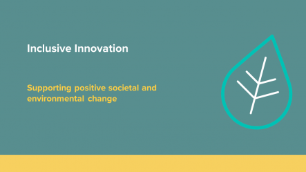 Inclusive Innovation - Supporting Positive Societal and environmental change