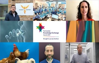 Montage showing the winners of the Scottish Knowledge Exchange Awards 2021
