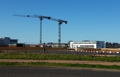 Cranes ready for construction