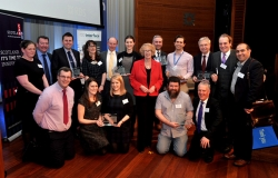 Group photo of all the Scottish Knowledge Exchange Awards winners
